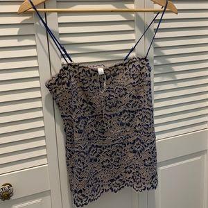 NWT Cosabella lace camisole, medium, blue